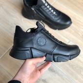 Кожаные кроссовки подросток- взрослый р 36-45