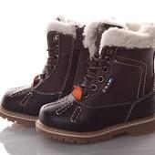 классные тёплые зимние Ботинки размер 26-31