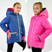 Двухстонняя куртка демисезонная на девочку