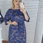 Теплое платье с напылением! 50 52 54 56