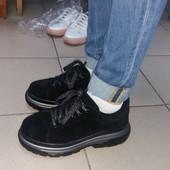 Демисезонные кроссовки замш натуральный