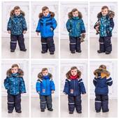Тёплые раздельные комбинезоны для мальчиков, размеры 92,98,104 и 110