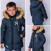 Зимние курточки на мальчиков от 2 до 12 лет. Замеры
