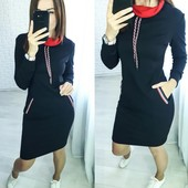 Повседневное трикотажное платье