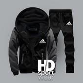 Костюмы Adidas и Nike,теплые на меху и флисе. р-ры 50,52,54. Две модели. Отправка в день оплаты.