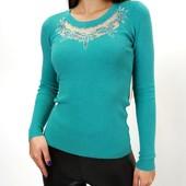 Нарядный женский свитерок с декором из страз (s/m, l/xl)