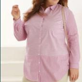 акция Esmara Германия 50,52,54,56,58,60 шикарная рубашка туника блузка платье, хлопок редкость
