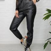Качество! На флисе!Акция ! Шикарные брюки из эко-кожи! Супер цена!