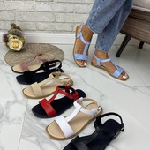 Летняя женская кожаная фабричная обувь, р.36-41