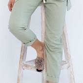 Женские летние штаны. Натуральный лён. Батал