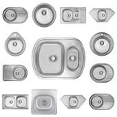 Кухонные мойки ULA с Нержавеющей стали, полный комплект, доставка бесплатно