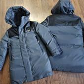 Куртка-парка зимняя для мальчиков от 134 до 158р. Аналог дорогих брендов