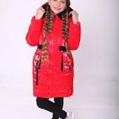Пальто зимнее для девочек от 134 до 158 р, теплое,качество, тренд сезона