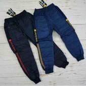 Болоньевые теплые штаны для мальчика 8-16лет. Остатки в наличии+ новый сбор